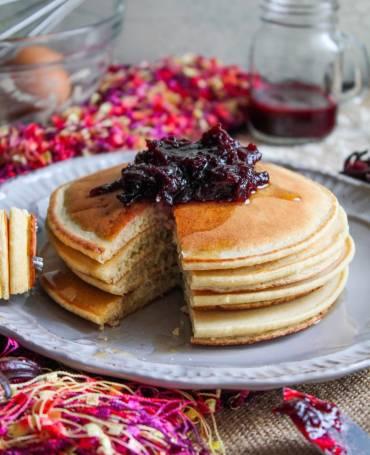 Holiday Pancakes & Sorrel Jam Recipe