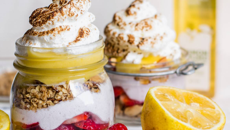 Lemon Cardamom Granola in a Parfait Recipe