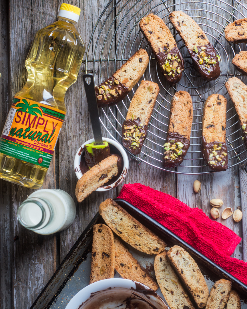 Sorrel and Pistachio Biscotti Recipe