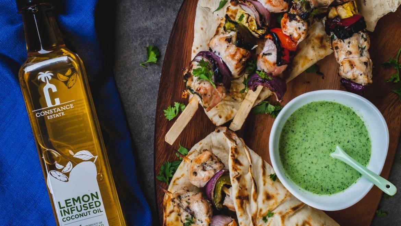 Lemon Herb Chicken And Vegetable Skewers Recipe