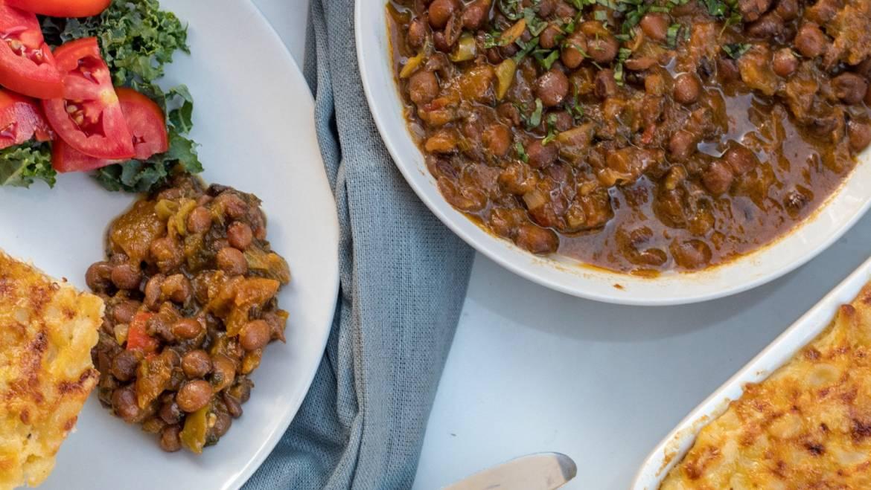 Caribbean styled stewed peas recipe