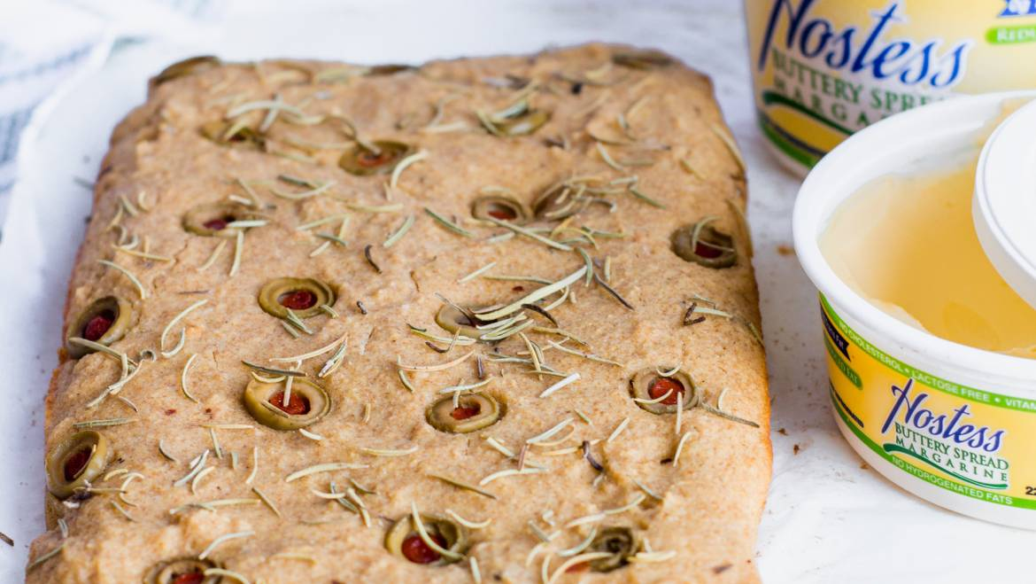 Rosemary Olive Corn bread by Lime & Spoon