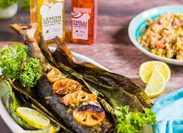 Banana Leaf Grilled Fish Recipe