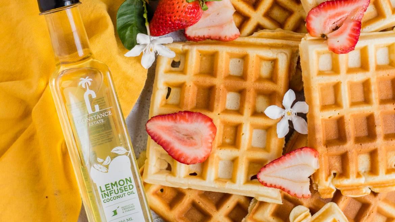 Mother's Day Lemon Waffles