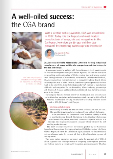 'A Well-Oiled Success – The CGA Brand' in Contact Magazine