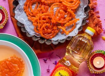 Jalebi Divali Recipe with Nariel Coconut Oil