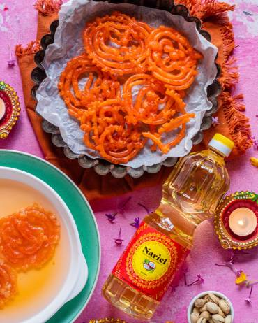 Jalebi Divali Recipe with Nariel Coconut Oil