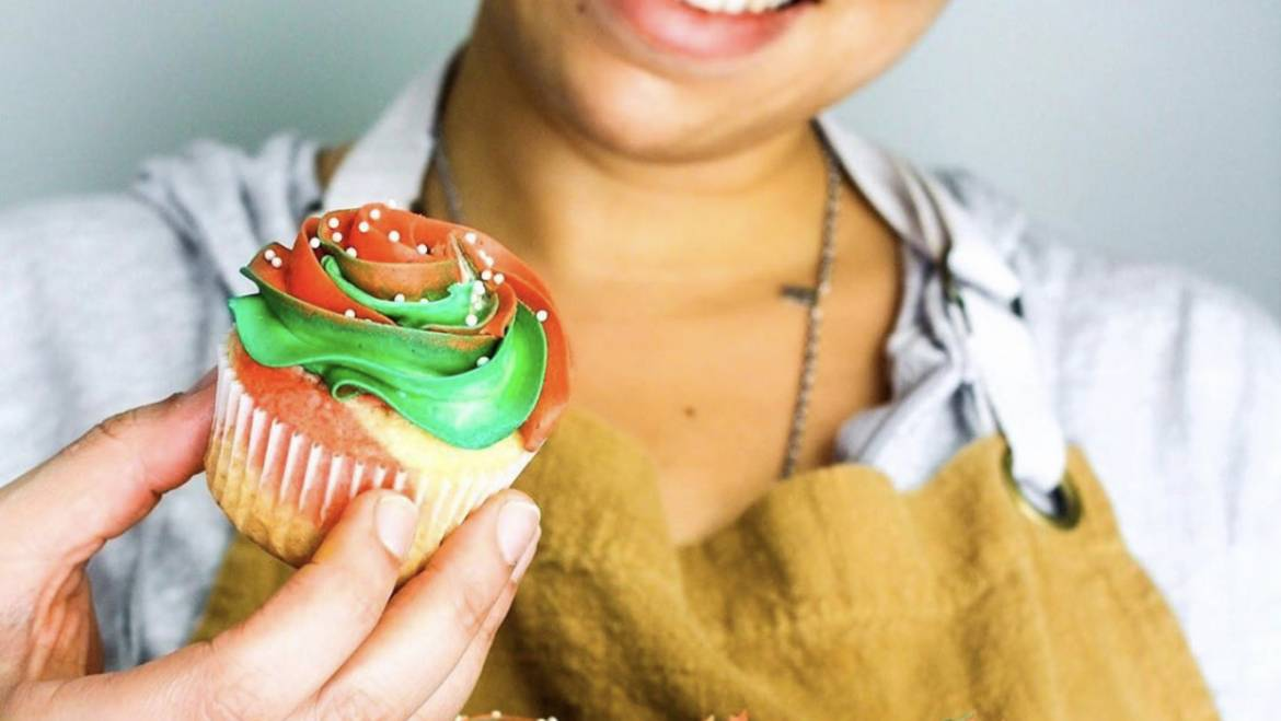 Gluten Free Holiday Marble Cupcakes by Off The Wheaten Path