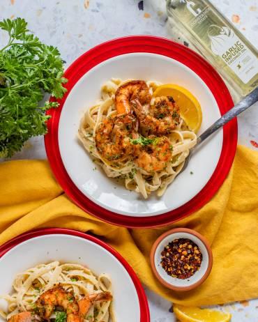Garlic Shrimp Alfredo Recipe