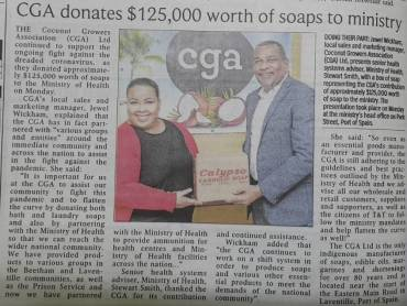 CGA Donates to COVID-19 Relief Efforts