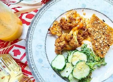 Vegan Sunday Lunch Spread