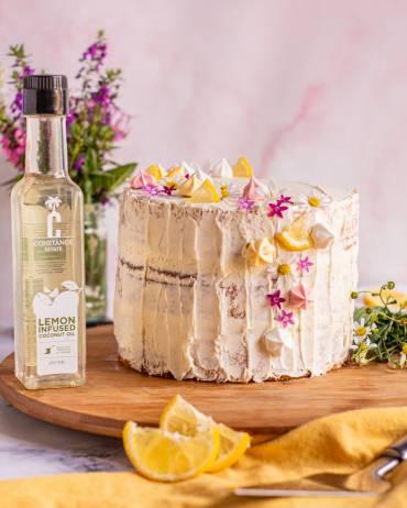 Citrus Velvet Cake with Lemon Buttercream Frosting