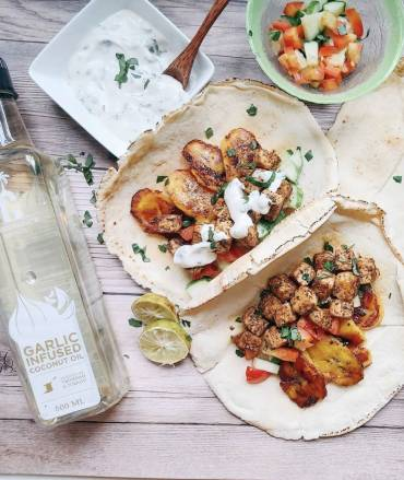 Tofu Fajitas with Vegan Sour Cream