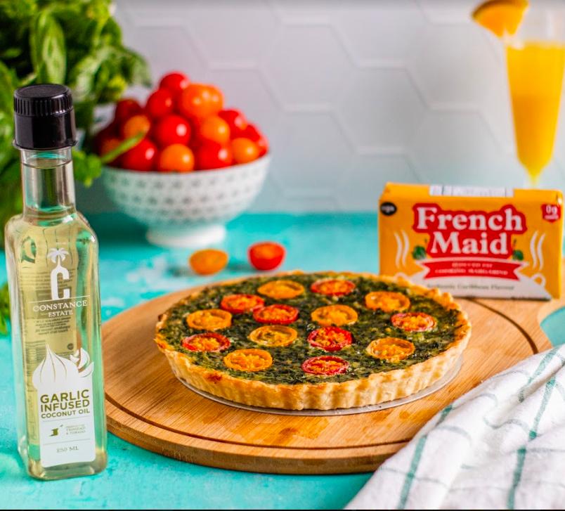Spinach & Tomato Quiche